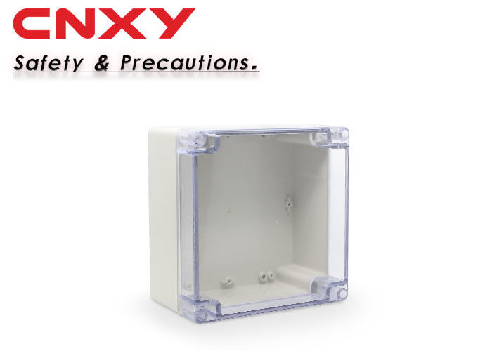 Grey Plastic Junction Box Hole Drilling Chemical Resistance RoHS Approved